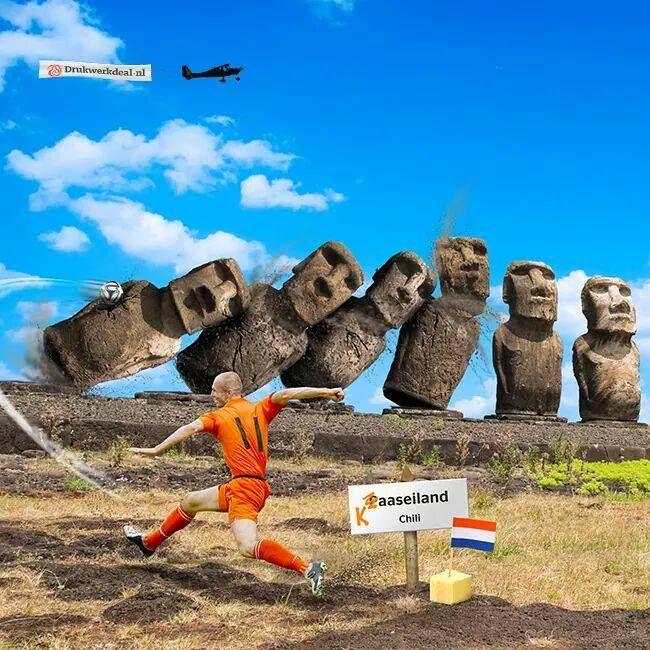 WK voetbal 2014 - Nederland - Chili