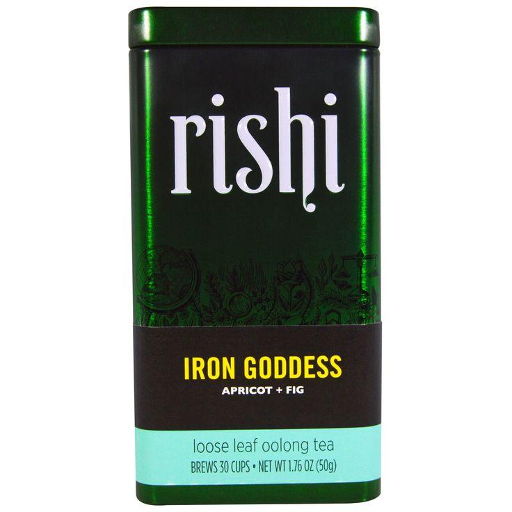 Rishi Tea, Iron Goddess, Loose Leaf Oolong Tea, Apricot   Fig, 1.76 oz (50 g)