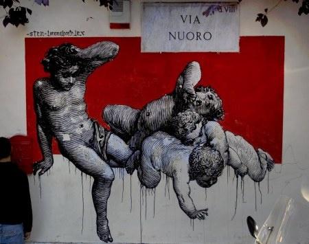 Street Art made in Italy, part II: STEN e LEX. Lo stencil. « streetaporter