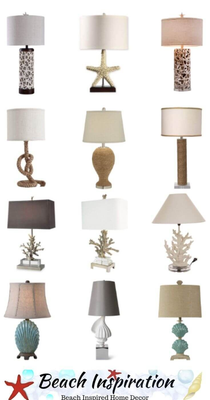 40 Beautiful Coastal Table Lamps For Beach Houses Beach Style Decorating House Lamp Home Decor Accessories