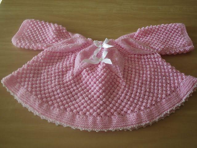 Receita de Tricô: Conjunto Rosa em trico para bebê