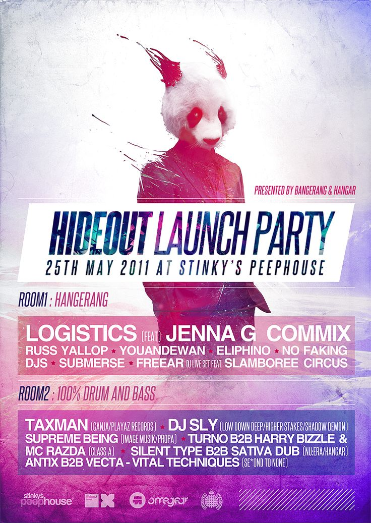 Hideout Launch Party Flyer