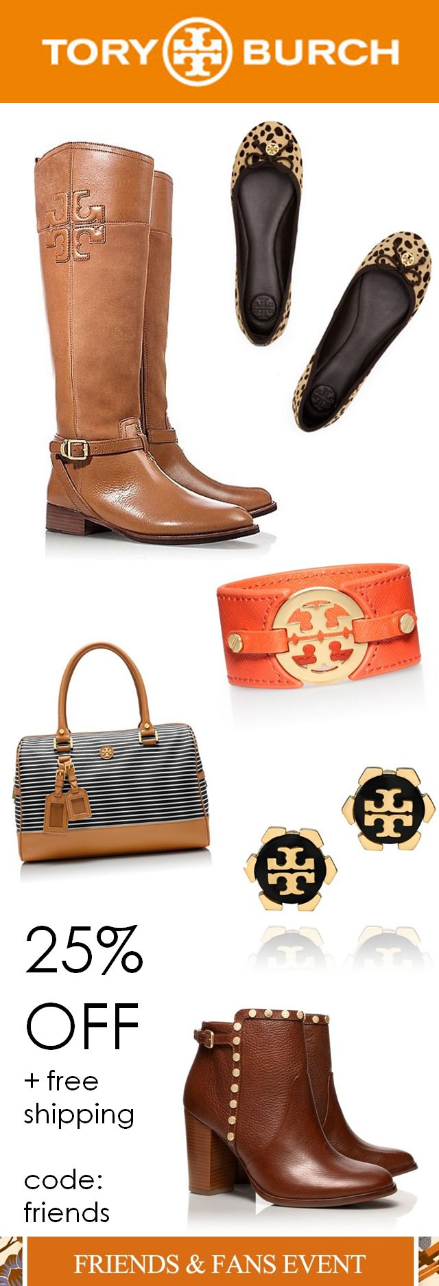 Enjoy 25% OFF at the Tory Burch 'friends & family sale' when you