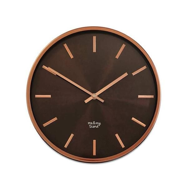 Me & My Trend Copper & Black Clock (30cm) | Koop.co.nz