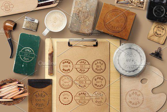 100 % Hand Made Badges by barsrsind on @creativemarket  #badge #craft #emblem #handcraft #handmade #homemade #vector #design #art #stock #sticker
