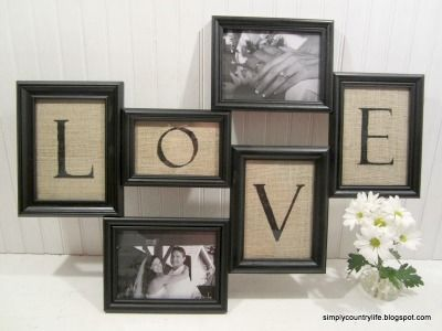 """I often like these """"collage"""" frames but don't ever have enough matching photos to put in them.  This is a great way to use them."""