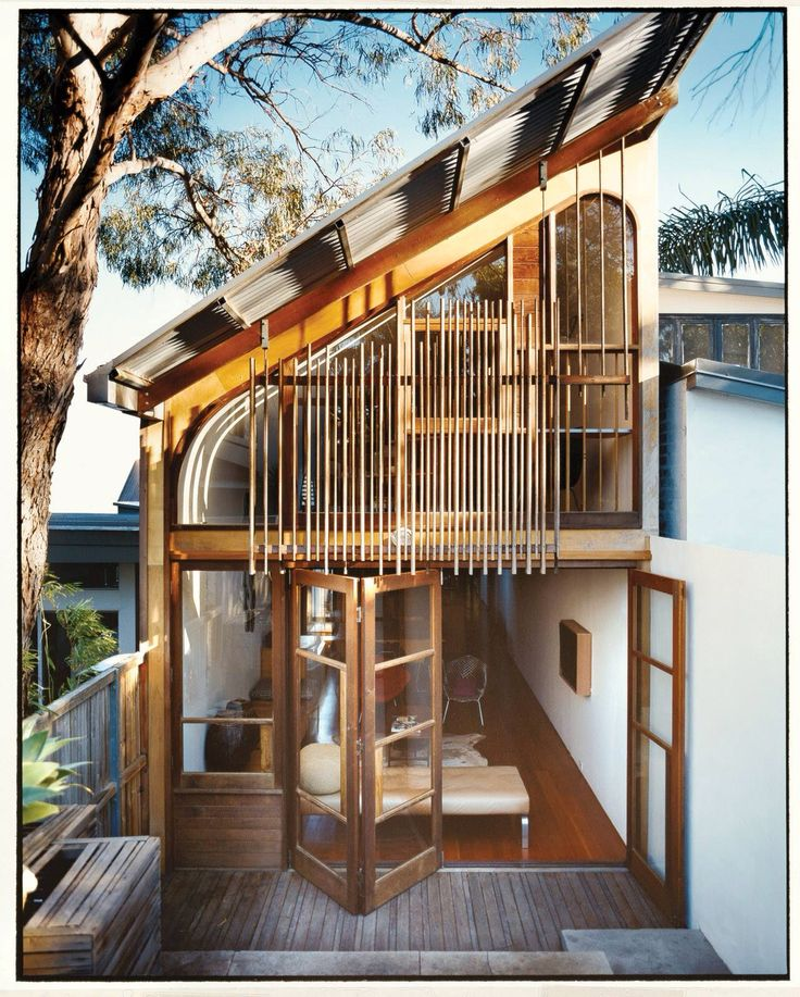Architecture. Love the door to the deck. Would be good in a kitchen that expands the dining area for outside-inside dining for parties.