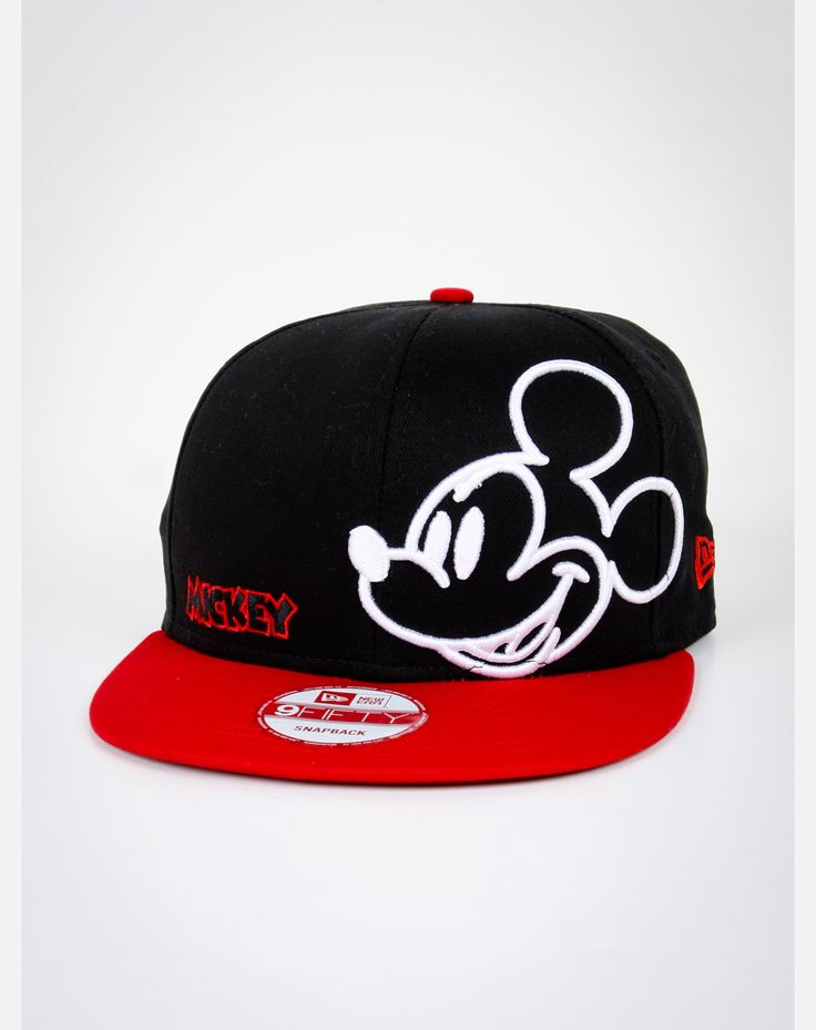 New Era Neon Mickey Mouse Snapback Hat it looks so cool I want this bad