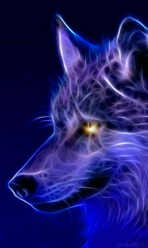 wolf fanasty | Title: Wolf - Abstract Lights