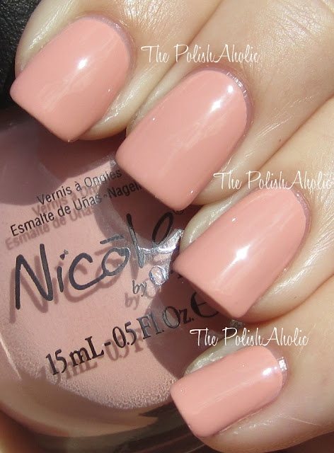 got this polish (Nicole by OPI paparazzi don't preach) today. great for spring!