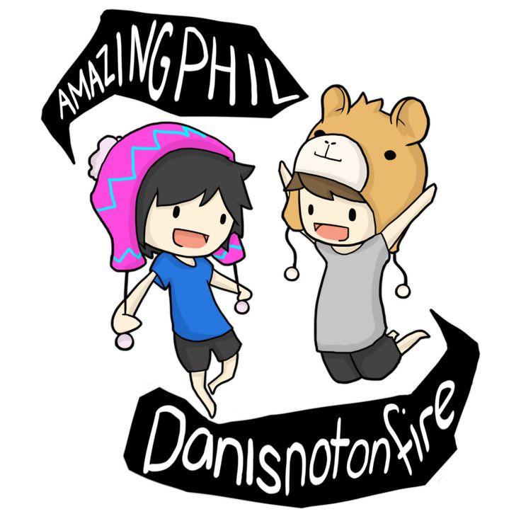 AmazingPhil and Danisnotonfire T-Shirt Design by Zel-Duh