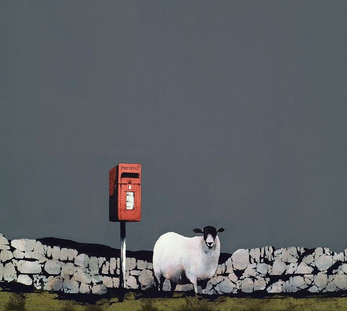 Ron Lawson Guarding the Post. Signed Limited Edition print | Scottish Contemporary Art