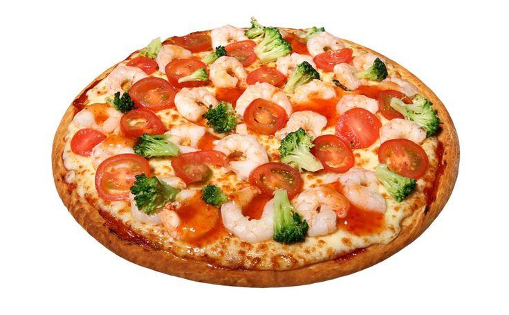 Seafood pizza HD Wallpaper