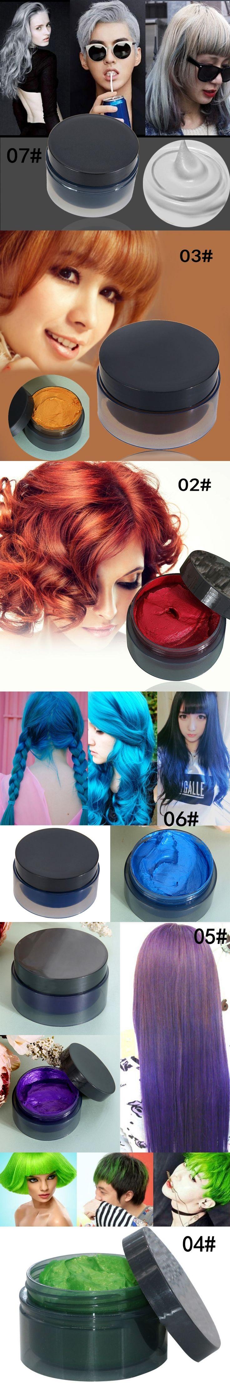 Women DIY Hair Color hair wax Pomade Silver Ash Grandma Grey Hair Wax Men Temporary Disposable Hair Dye Coloring Mud Cream