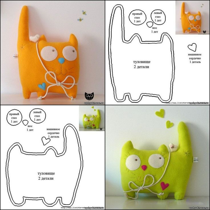 Felt cat pattern #cat #kitten #kitty #pattern #felt #DIY