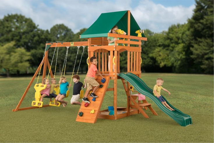 Sky View Wooden Swing Set