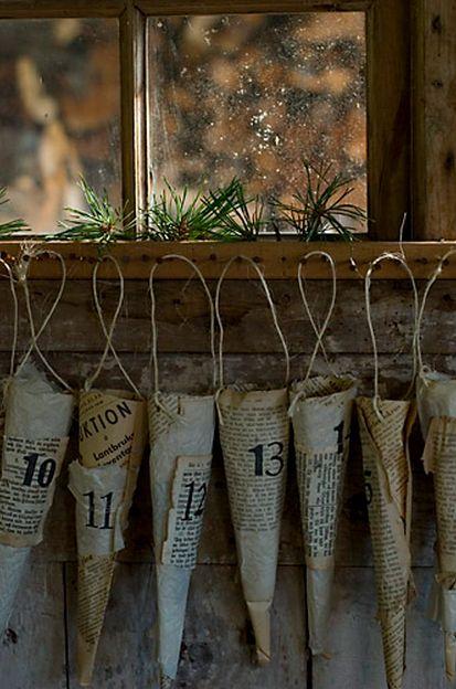Advent calendar cones