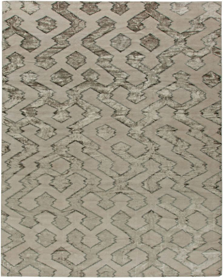 Contemporary Rugs: Contemporary rug in green, modern style perfect for modern interior decor, modern living room, geometric pattern rug