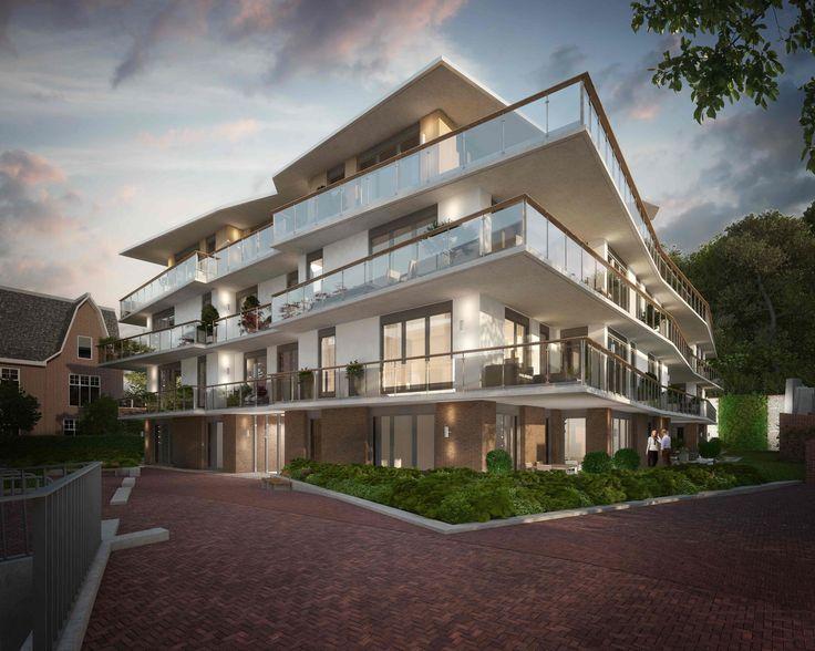 Duyndoorn - Den Haag, prijs €399.000,- tot €699.000,-, woonoppervlakte 115 m² tot 180 m².  Het is misschien wel dé woonontdekking van Den Haag dit jaar! Verscholen achter het groen van de Scheveningseweg 106 verrijzen straks 22 villa-appartementen.