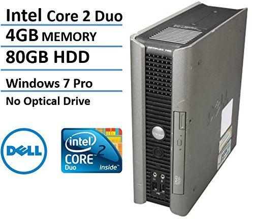 nice Dell Optiplex 760 Business USFF Desktop Computer, Intel Core 2 Duo E7500 2.93 Ghz CPU, 4GB DDR3 RAM, 80GB HDD, No Optical Drive, Windows 7 Professional (Certified Refurbished)