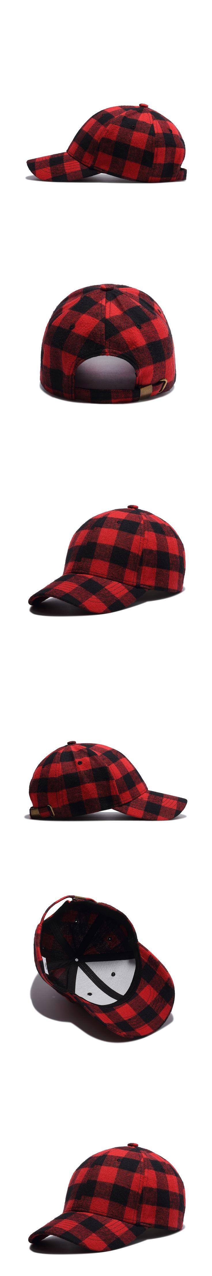 Hip hop dancers cap all-match fashion Plaid Cotton and summer baseball cap peaked cap Korean couple tide hat