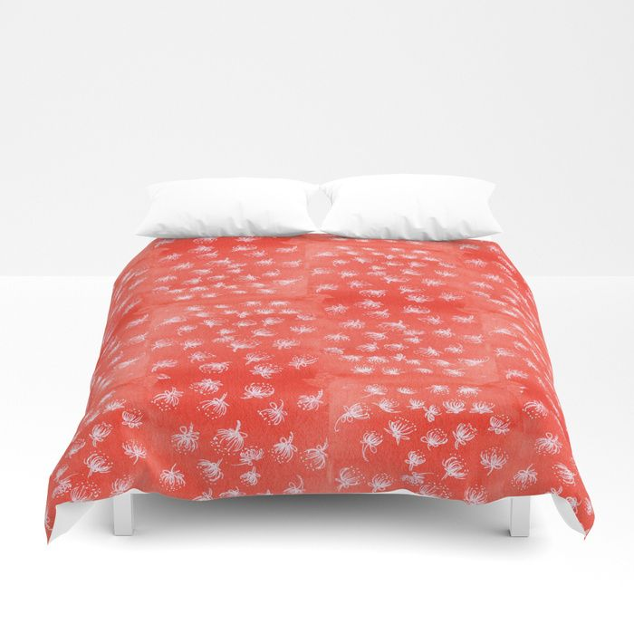 Buy Pohutukawa flakes-red Duvet Cover by emiliegeant. Worldwide shipping available at Society6.com. Just one of millions of high quality products available.