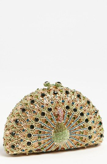 Natasha Couture Peacock Clutch available at #Nordstrom