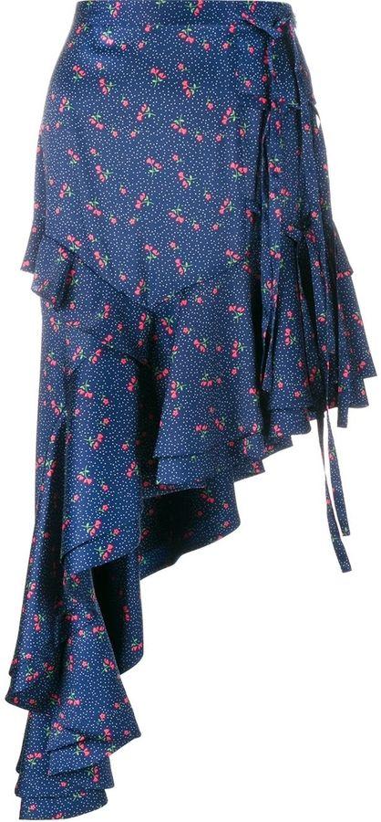 Sandy Liang 'Chet' Asymmetric Ruffled Skirt