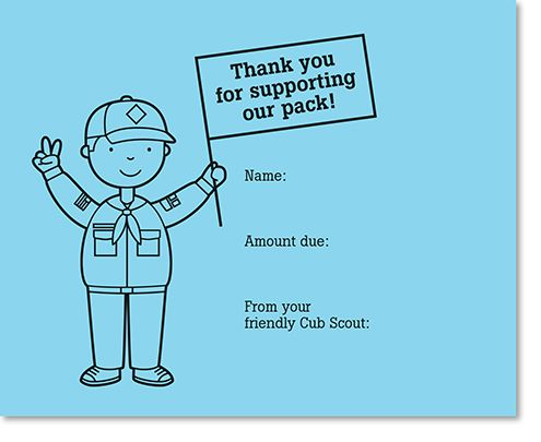 Cub Scout printable thank you tags from spotgirl-hotcakes.blogspot.com
