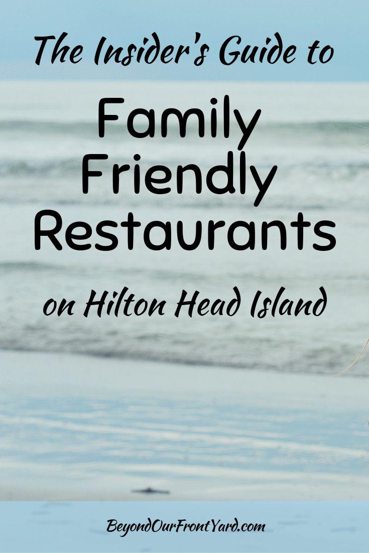 Household Pleasant Eating places on Hilton Head, South Carolina