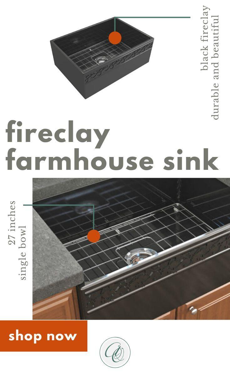 Bocchi Vigneto 27 Black Fireclay Single Bowl Farmhouse Sink W Grid In 2020 Farmhouse Sink Kitchen Single Bowl Kitchen Sink Sink