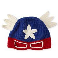 HAND CROCHETED SUPERHERO HAT|UncommonGoods