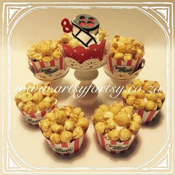 Going to the Movies Popcorn Cupcakes #popcorncupcakes