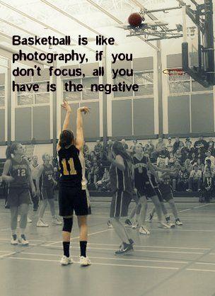 Basketball ist wie Fotografie, wenn Sie sich nicht nur auf das Negative konzentrieren …  – Basketball