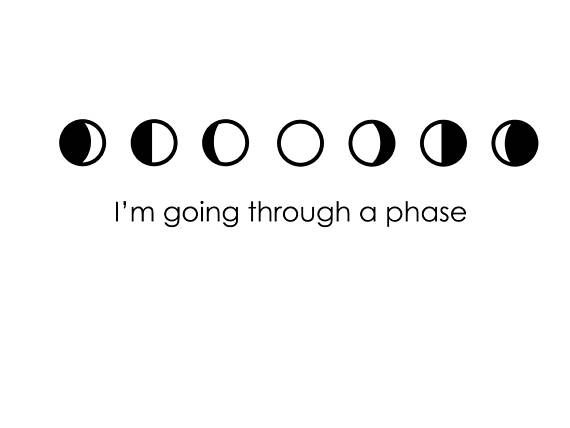 Im going through a phase phases of the moon decal math science space decal place decal on car windshield mug laptop computer