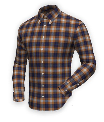 Blue flannel checked Shirt http://www.tailor4less.com/en-us/men/shirts/2392-blue-flannel-checked-shirt