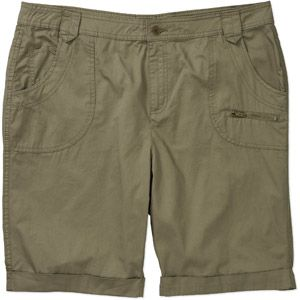 Faded Glory Women's Plus-Size Twill Bermuda Shorts With Zipper Details
