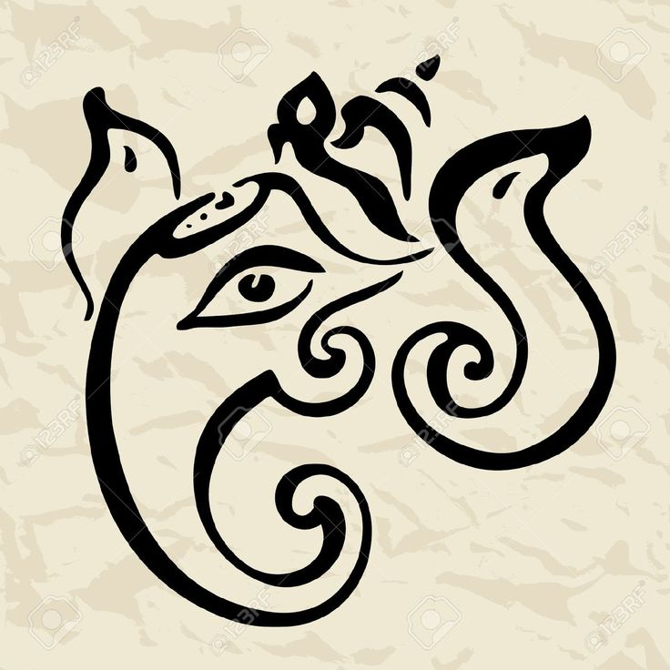 17345715-Hindu-God-Ganesha-Vector-hand-drawn-illustration--Stock-Vector-tattoo.jpg (1300×1300)