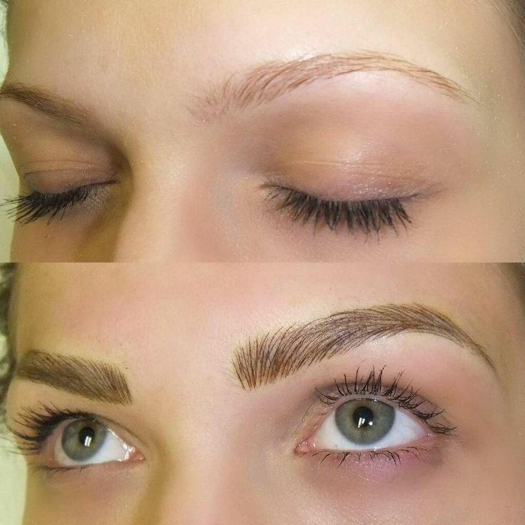 De 25 bedste id er inden for permanent eyebrows p for Eyebrow tattoo microblading