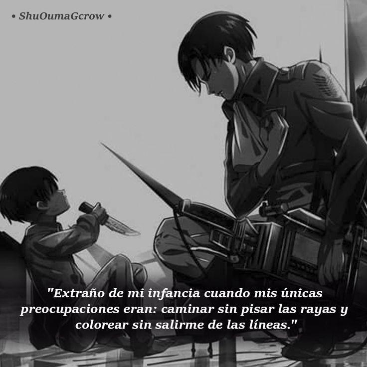 Extraño de mi infancia. #ShuOumaGcrow #Anime #Frases_anime #frases