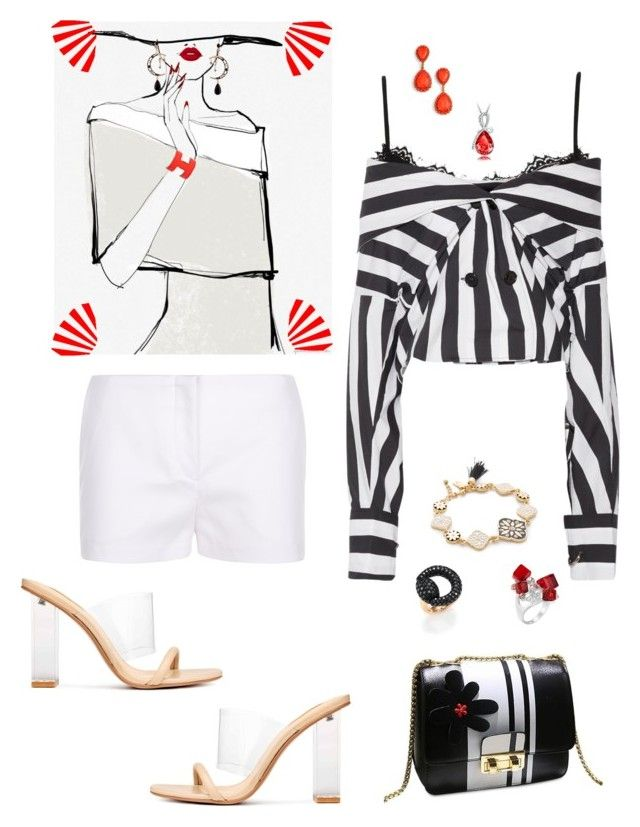 """Untitled #785"" by lianatzelese on Polyvore featuring Marques'Almeida, Garance Doré, Kate Spade, Lime Crime, Loren Hope, Gucci and Hermès"