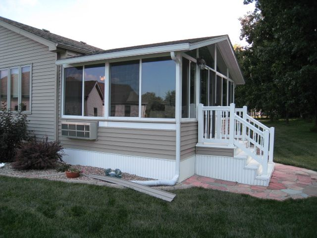 Sunrooms On Two Story Houses This Is Actually A Prefab Kit On Which We Matched The Existing