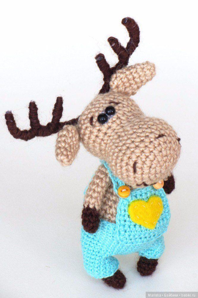 Маленький лось, мк. Вязанеи крючком / Вязание игрушек, схемы / Бэйбики. Куклы фото. Одежда для кукол