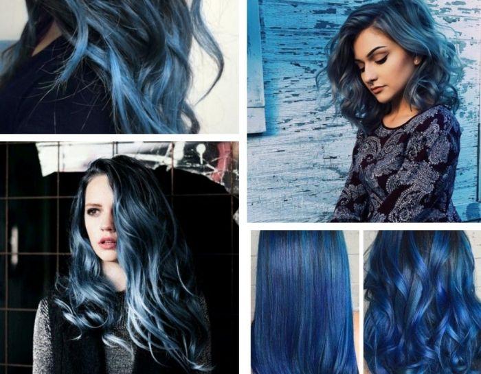 coloration cheveux noir et bleu coiffures la mode de cette saison. Black Bedroom Furniture Sets. Home Design Ideas