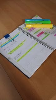 number three!! put tabs in textbooks for when each section needs to be read by