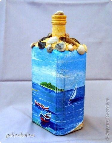 идеи декор бутылок в морском стиле - Поиск в Google