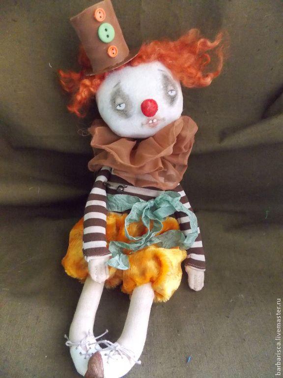 Купить Клоун старого цирка - коричневый, клоун, цирк, старый цирк, винтаж, винтажный цирк