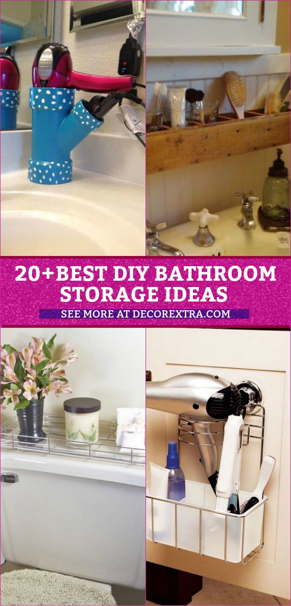 20+ Amazing DIY Bathroom Storage Ideas Do It Yourself Today