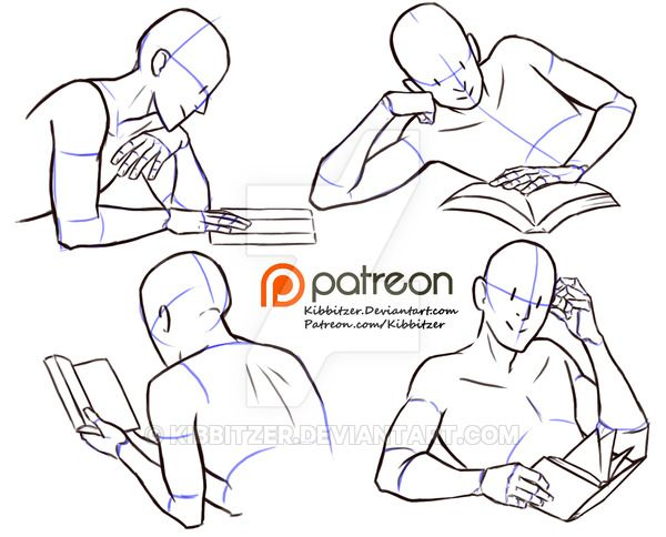 A reading pose is always useful! <3 This is a little preview! if you are interested on patreon you can find the complete series and all the other normal reference sheets for $1 per month! use it...
