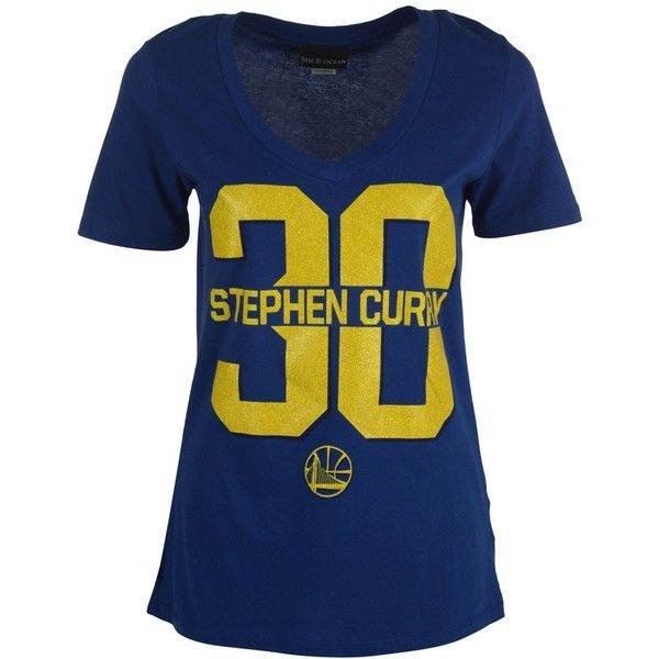 5th & Ocean Women's Stephen Curry Golden State Warriors Sparkle... (396.900 IDR) ❤ liked on Polyvore featuring tops, t-shirts, royalblue, graphic tops, graphic print t shirts, blue tee, blue t shirt and sparkle t shirts